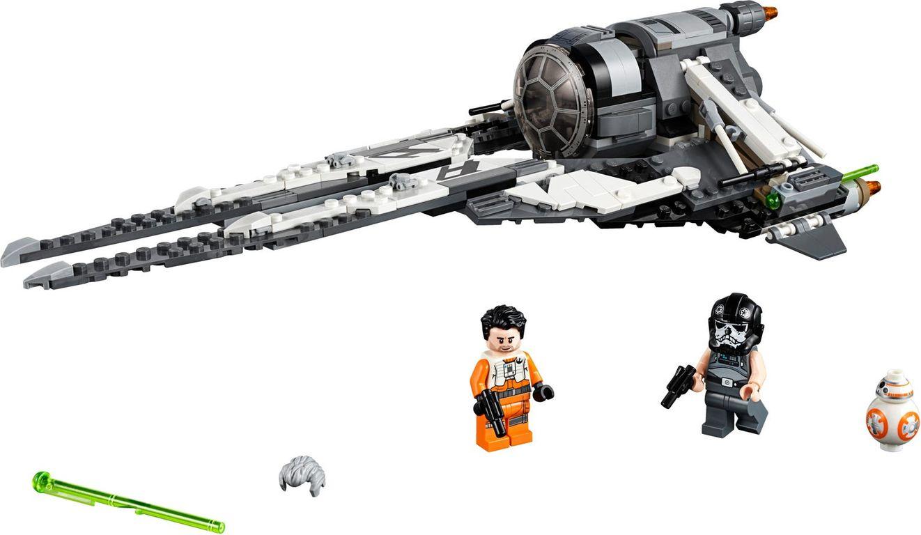 LEGO® Star Wars Black Ace TIE Interceptor components