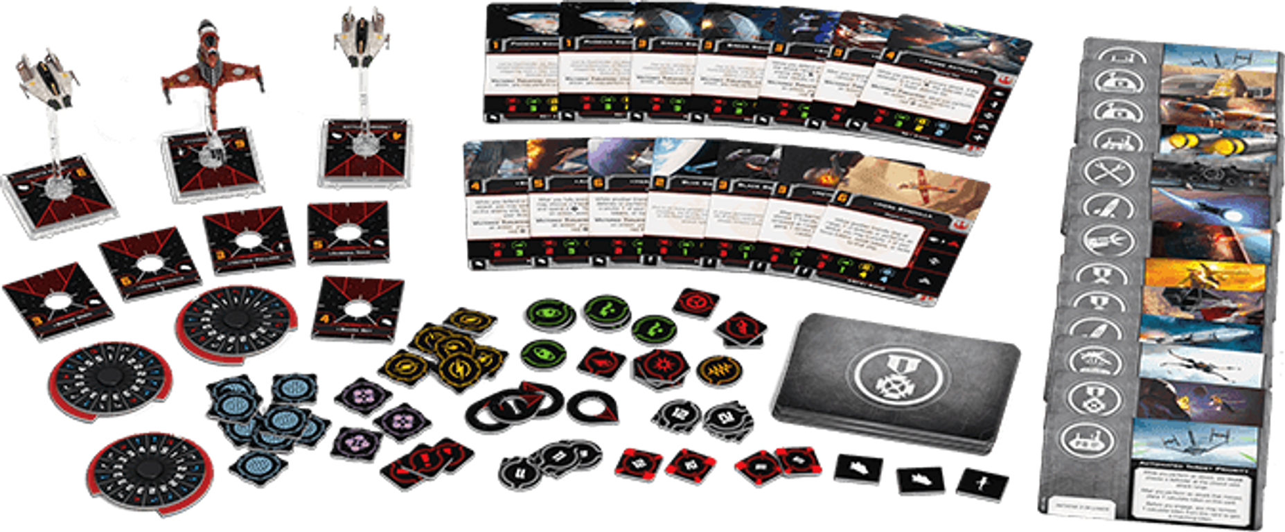 Star Wars: X-Wing (Second Edition) – Phoenix Cell Squadron Pack components