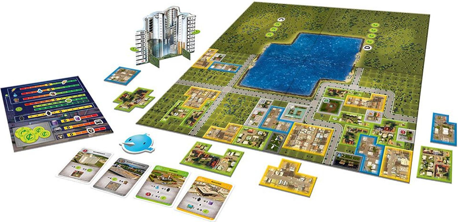 Cities: Skylines - The Board Game components