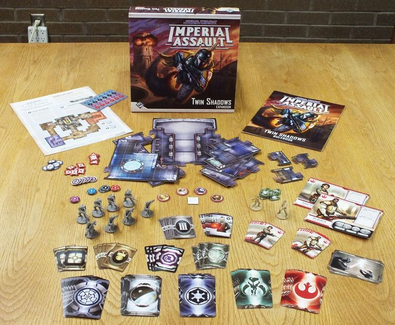 Star Wars: Imperial Assault - Twin Shadows components