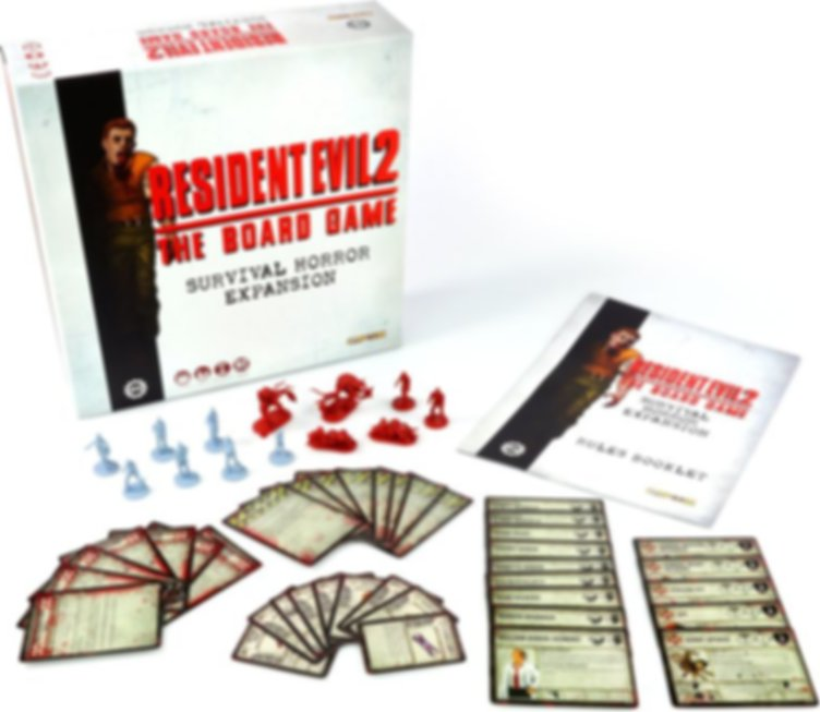 Resident Evil 2: The Board Game - Survival Horror Expansion components