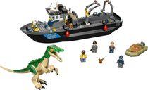 LEGO® Jurassic World Baryonyx Dinosaur Boat Escape components