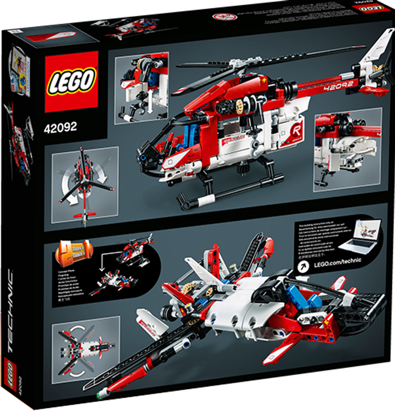 Rescue Helicopter back of the box
