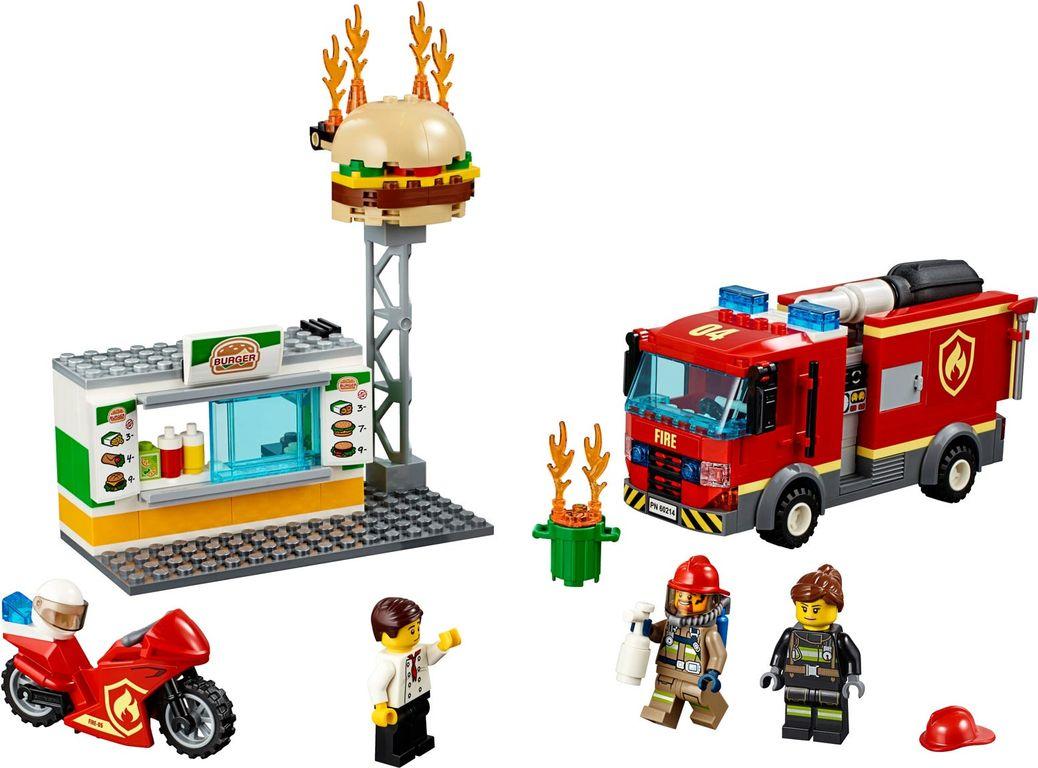 LEGO® City Burger Bar Fire Rescue components
