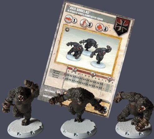 """Dust Tactics: Blutkreuz Korps Kampfaffen Squad - """"Axis Gorillas"""" components"""