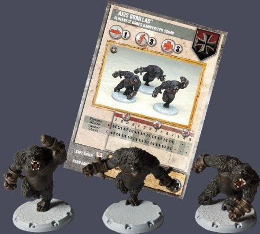 """Dust Tactics: Blutkreuz Korps Kampfaffen Squad - """"Axis Gorillas"""" partes"""