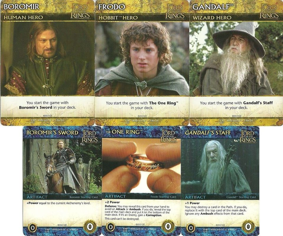The Lord of the Rings: The Fellowship of the Ring Deck-Building Game cards