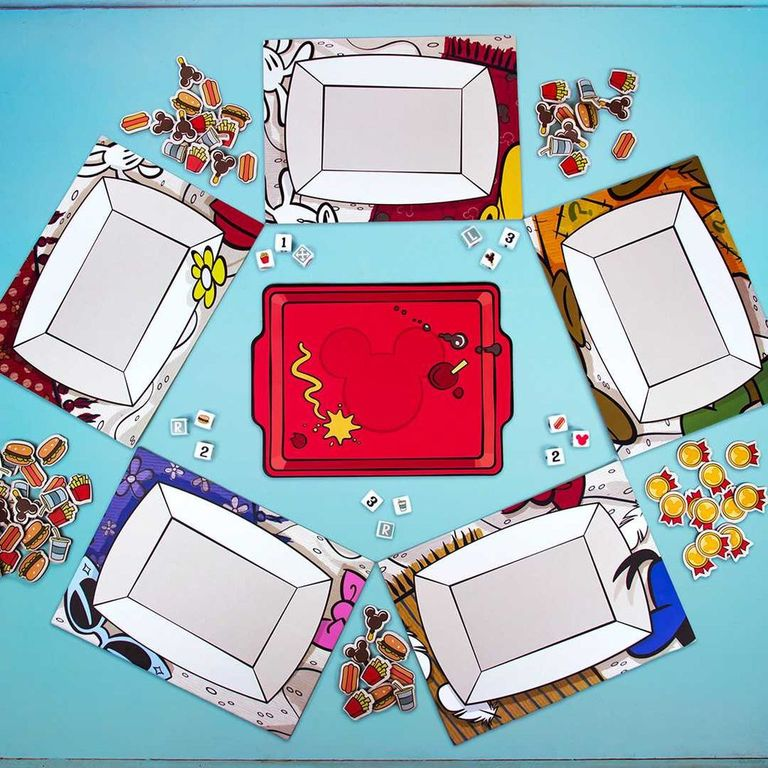 Mickey and Friends Food Fight game board
