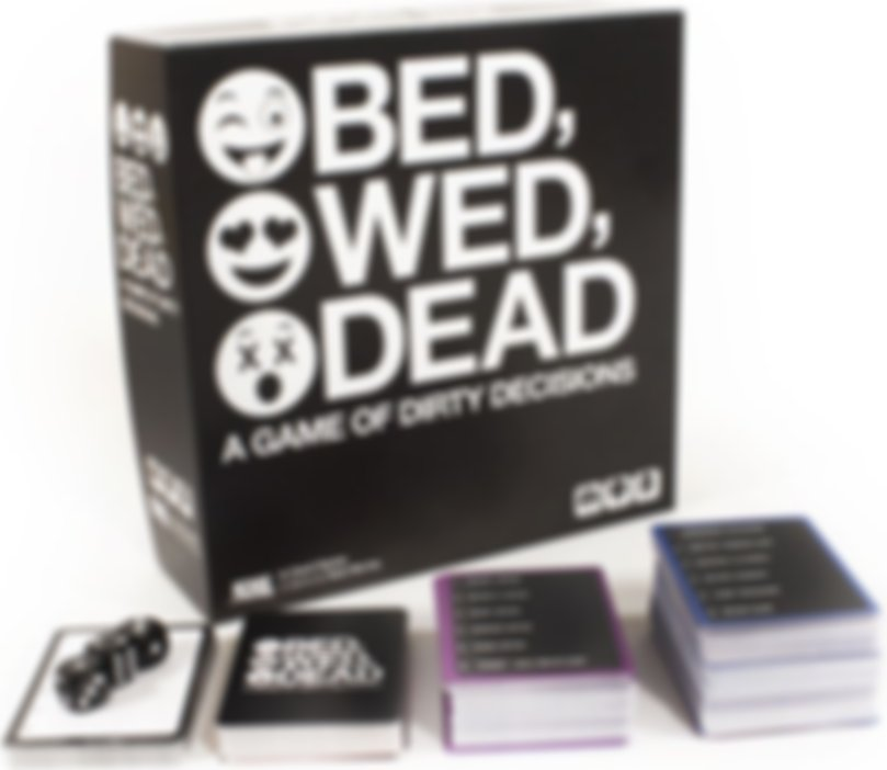 Bed, Wed, Dead: A Game of Dirty Decisions components