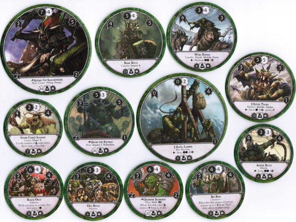 Warhammer: Diskwars - core set components