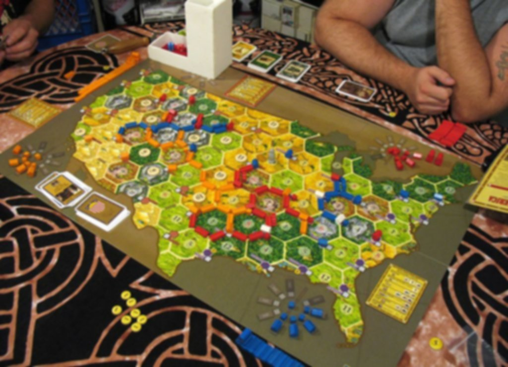Catan Histories: Settlers of America - Trails to Rails gameplay