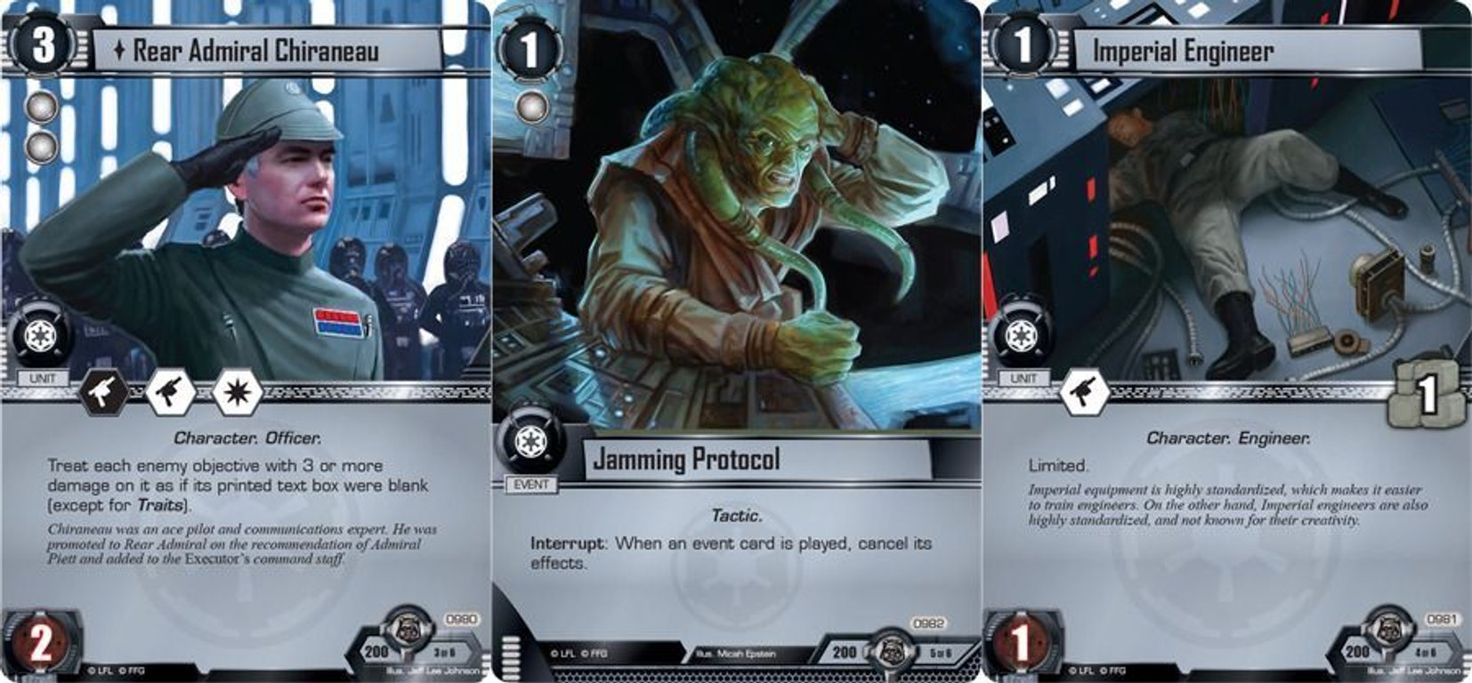 Star Wars: The Card Game - The Forest Moon cards