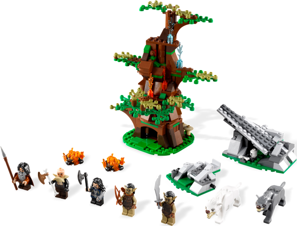 LEGO® The Hobbit Attack of the Wargs components
