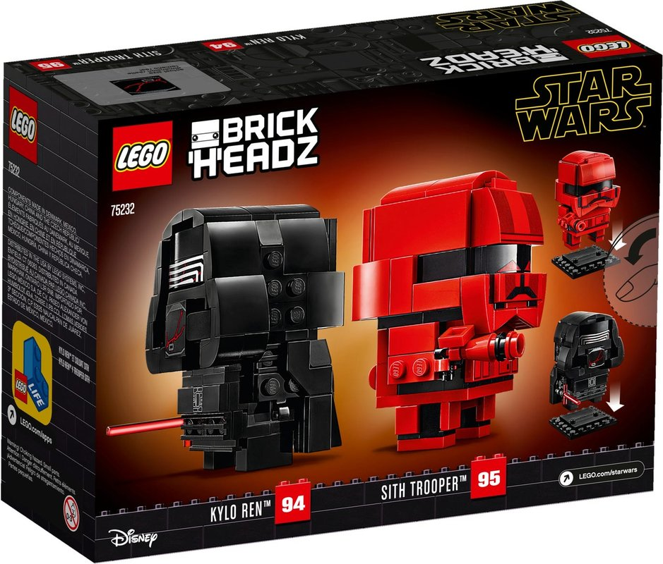 Kylo Ren™ & Sith Trooper™ back of the box