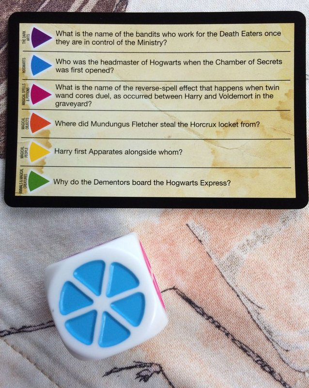 Trivial Pursuit: World of Harry Potter components