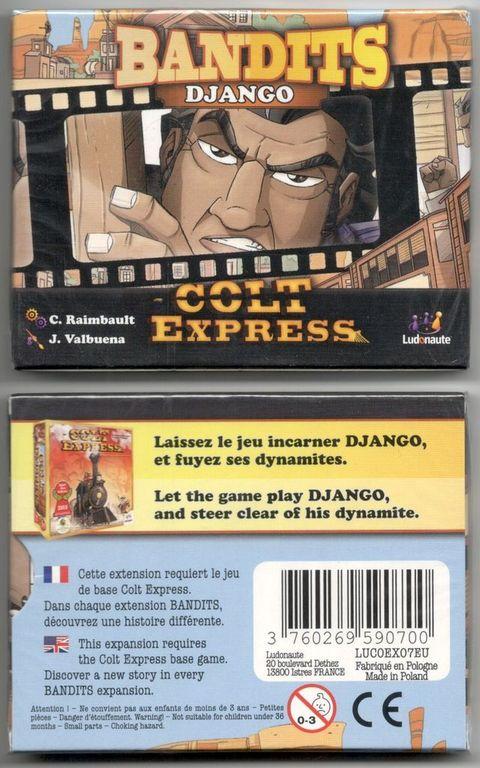 Colt Express: Bandits – Django back of the box