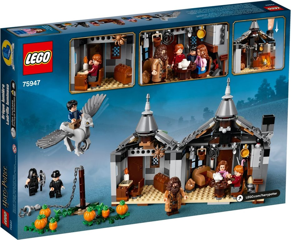 LEGO® Harry Potter™ Hagrid's Hut Buckbeak's Rescue back of the box