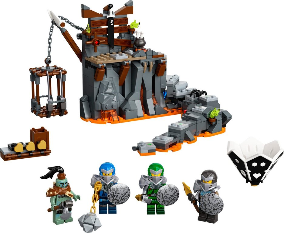 LEGO® Ninjago Journey to the Skull Dungeons components