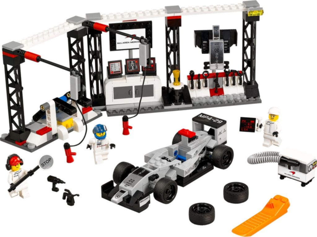 LEGO® Speed Champions McLaren Mercedes Pit Stop components