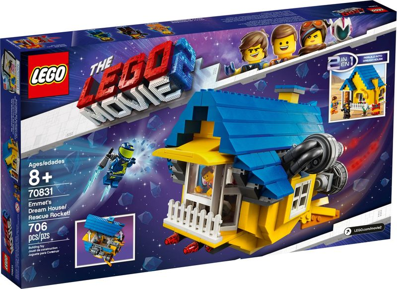 LEGO® Movie Emmet's Dream House with Rescue Rocket! back of the box