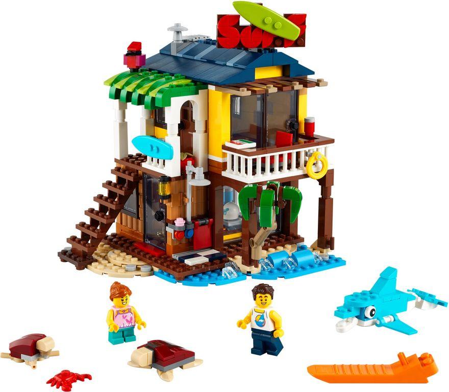 LEGO® Creator Surfer Beach House components