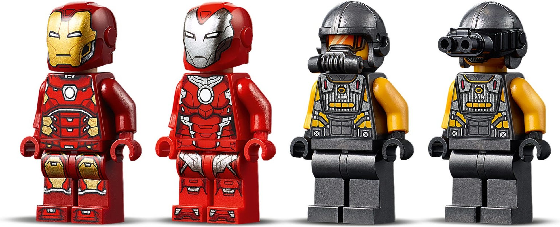 Iron Man Hulkbuster versus A.I.M. Agent minifigures