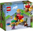LEGO® Minecraft The Coral Reef back of the box