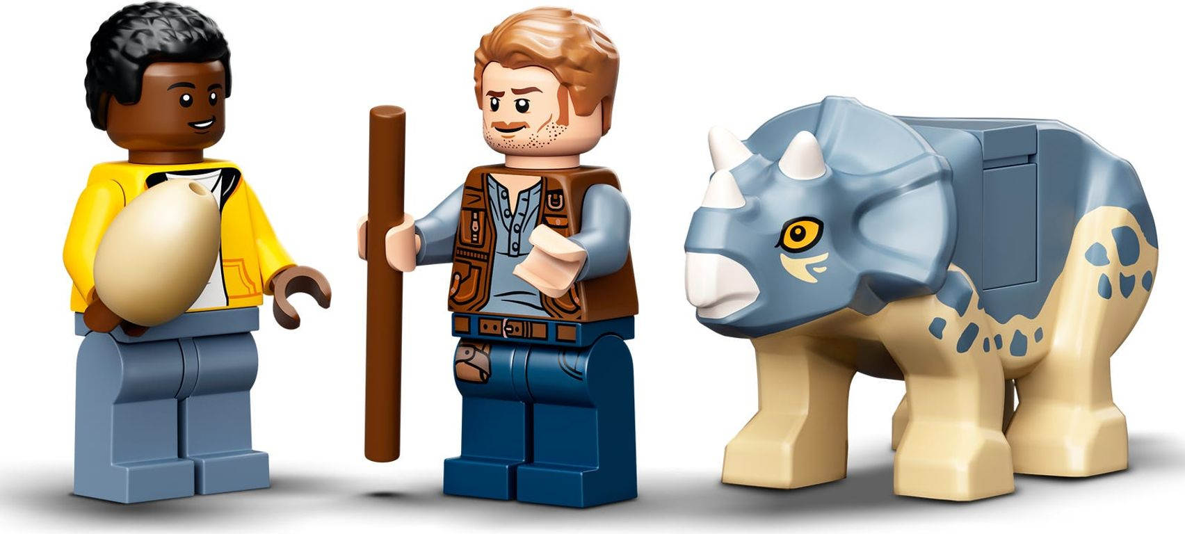 LEGO® Jurassic World T. rex Dinosaur Fossil Exhibition minifigures