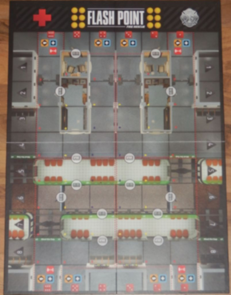 Flash Point: Fire Rescue - Honor & Duty game board