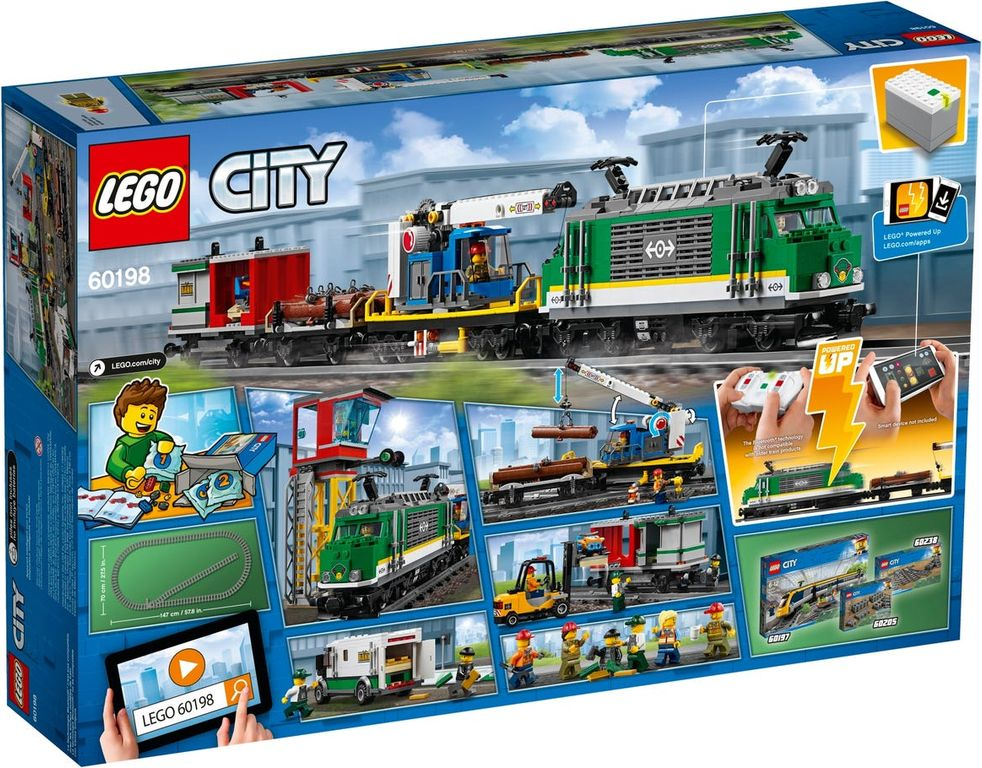 LEGO® City Cargo Train back of the box