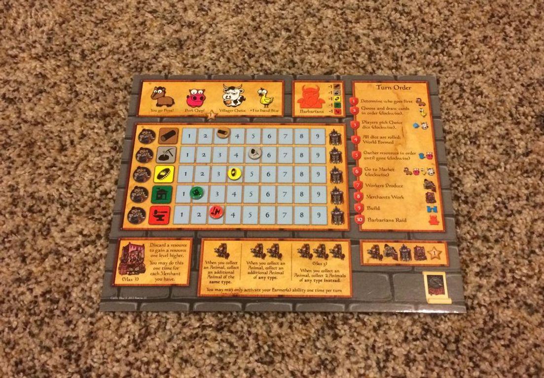 Castle Dice: More Castles! components