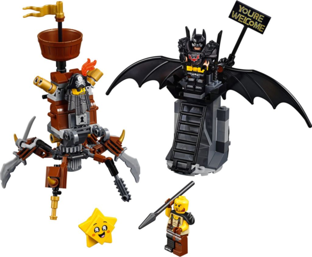 Battle-Ready Batman™ and MetalBeard components