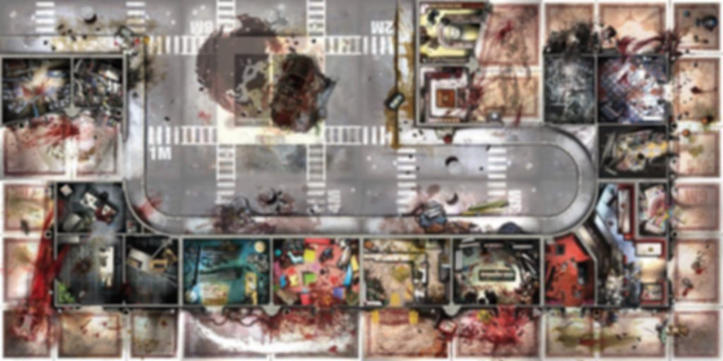 Zombicide: Toxic City Mall game board