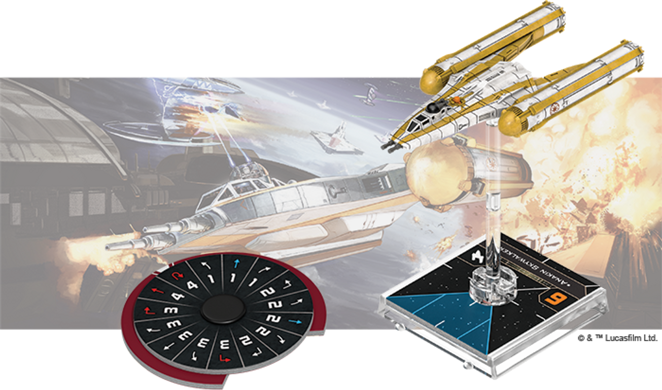 Star Wars: X-Wing (Second Edition) - BTL-B Y-Wing Expansion Pack components