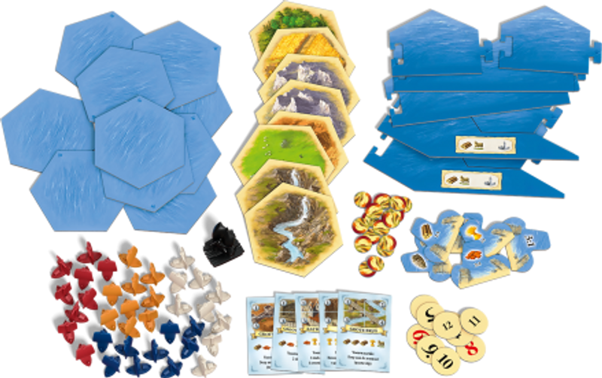 Catan: 25th Anniversary Edition components