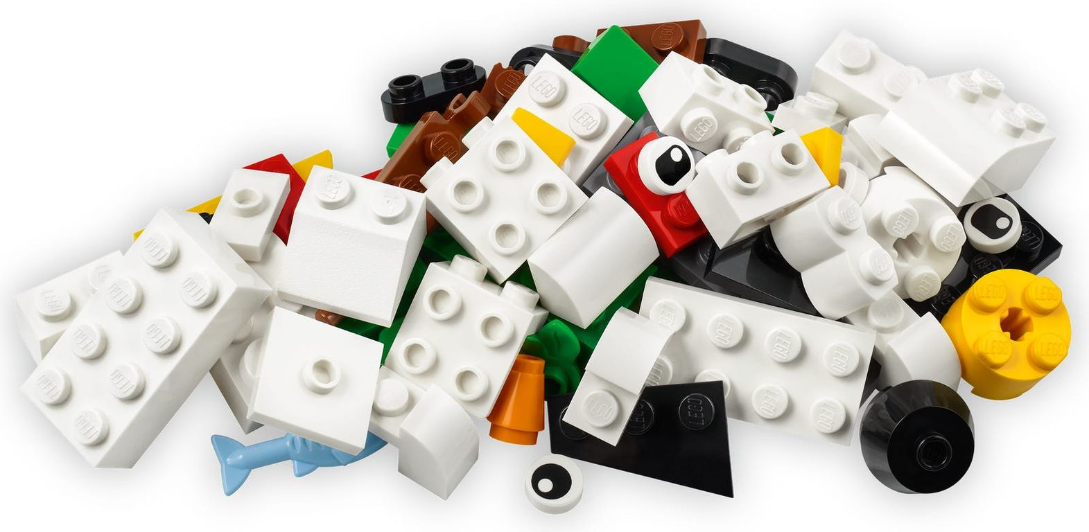 LEGO® Classic Creative White Bricks components