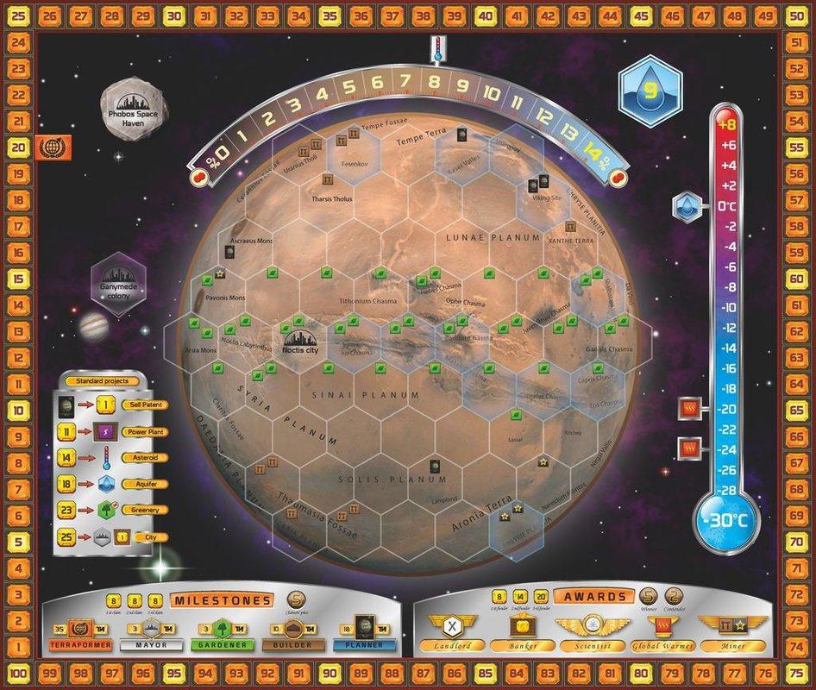 Terraforming Mars game board