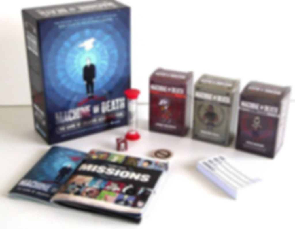 Machine of Death: The Game of Creative Assassination components