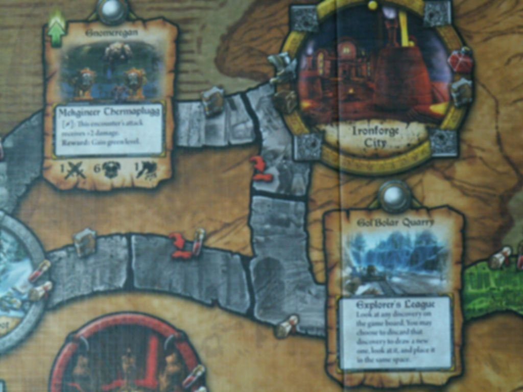 World of Warcraft: The Adventure Game game board
