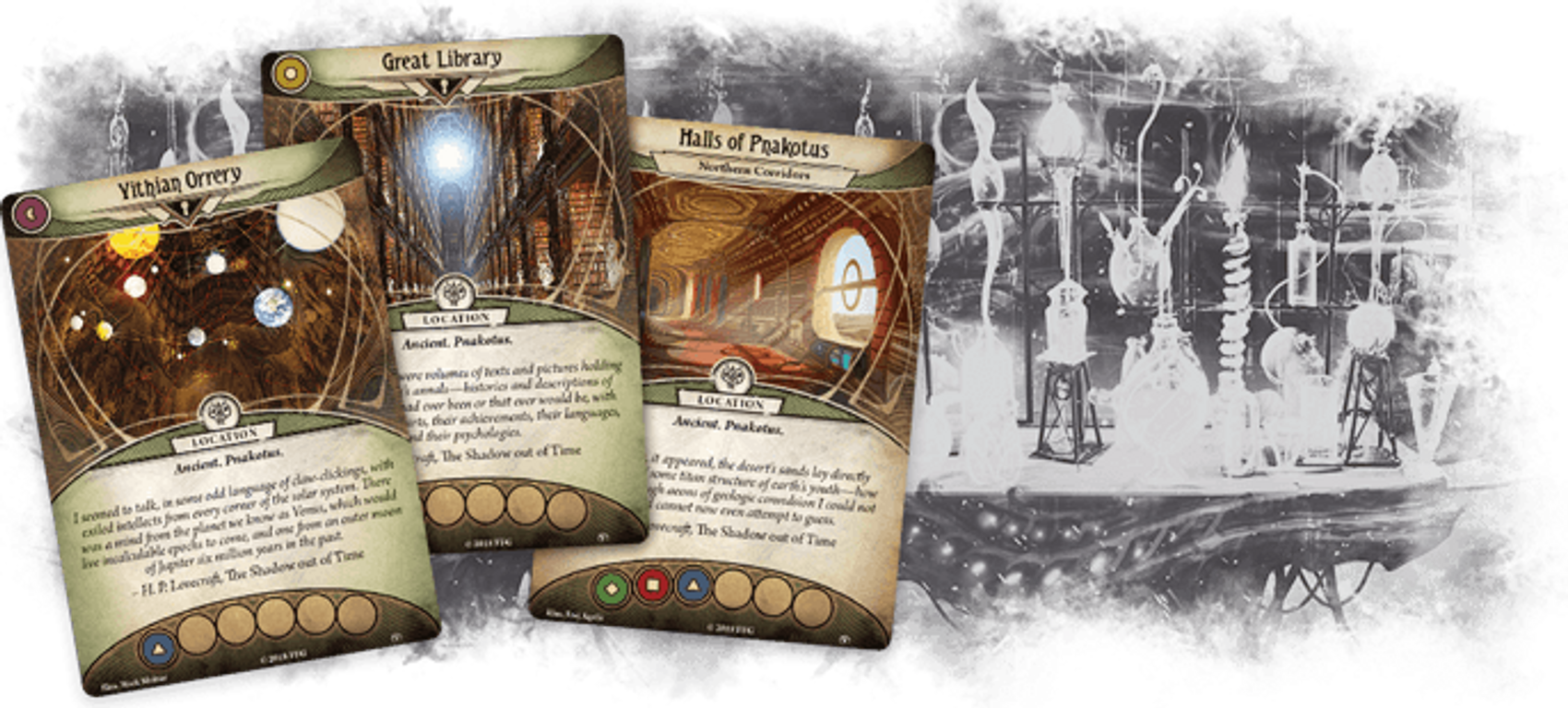 Arkham Horror: The Card Game - The City of Archives: Mythos Pack cards