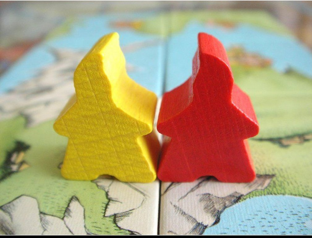 Carcassonne: The Discovery components