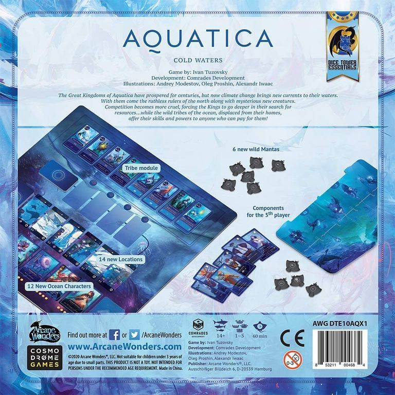 Aquatica: Cold Waters back of the box
