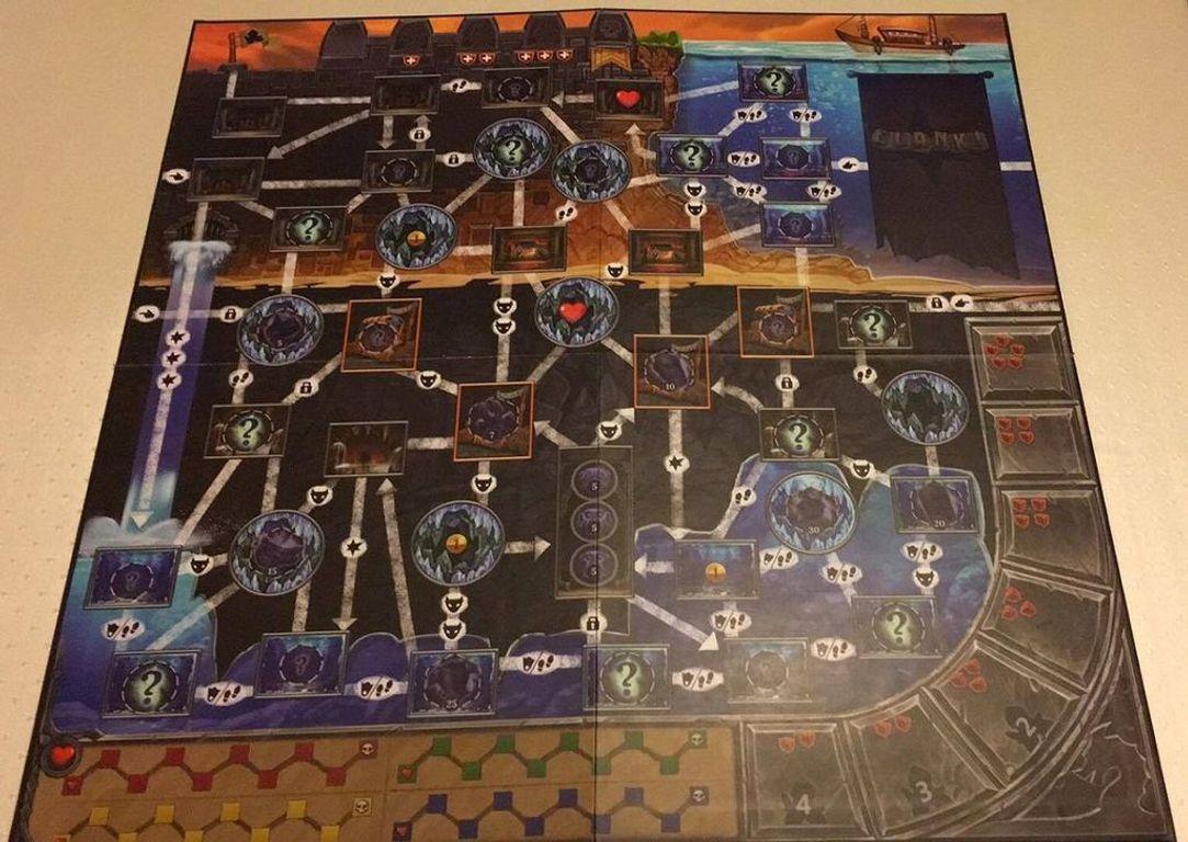 Clank! Sunken Treasures game board