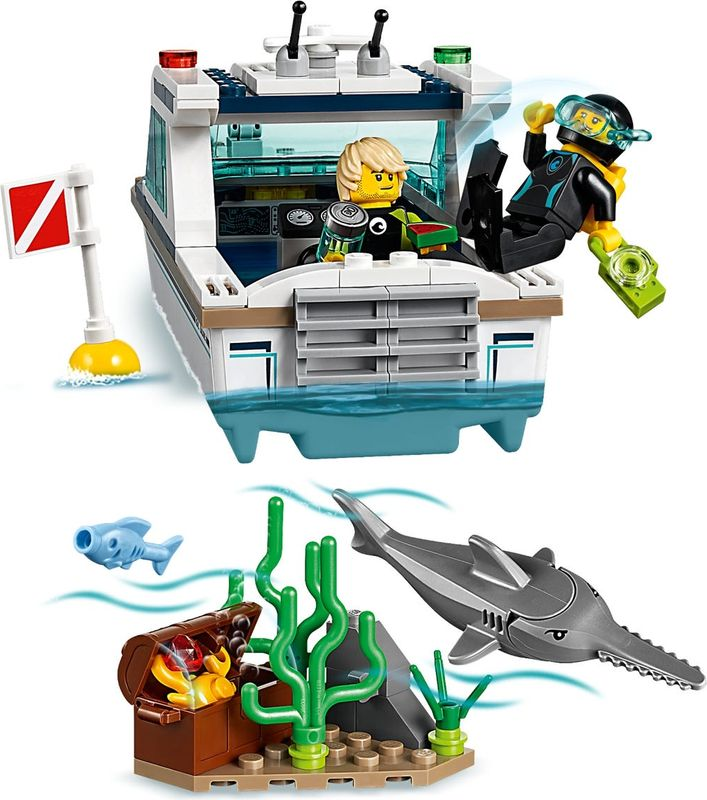 LEGO® City Diving Yacht components