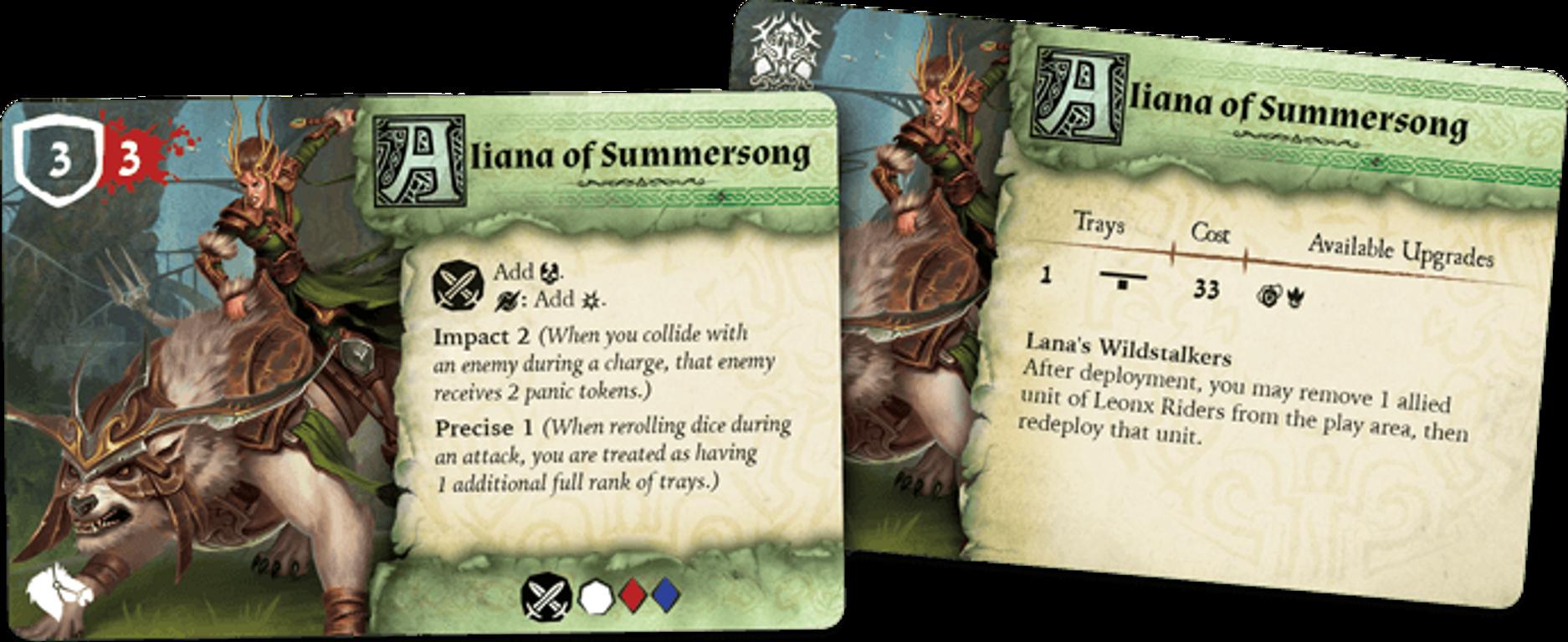 Runewars Miniatures Game: Latari Elves – Army Expansion cards