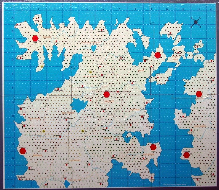 Iron Dragon game board
