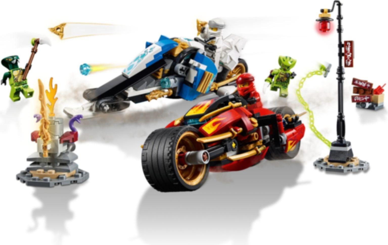Kai's Blade Cycle & Zane's Snowmobile gameplay