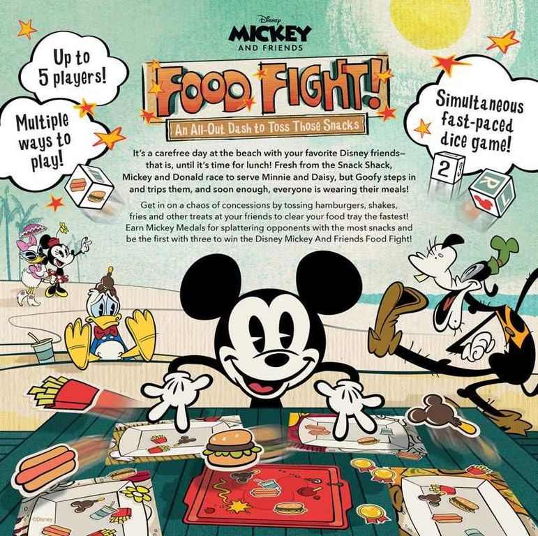 Mickey and Friends Food Fight back of the box
