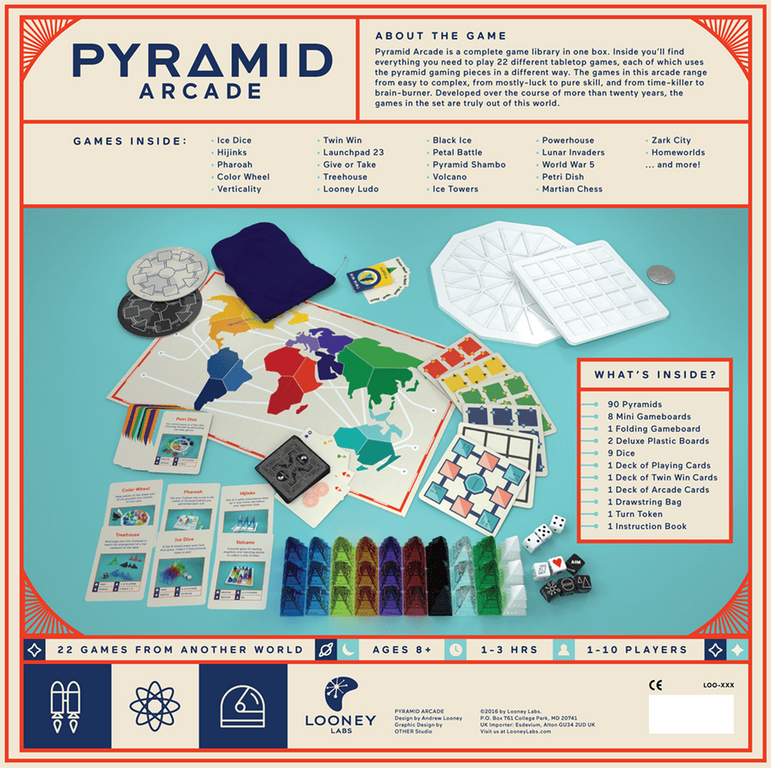 Pyramid Arcade back of the box