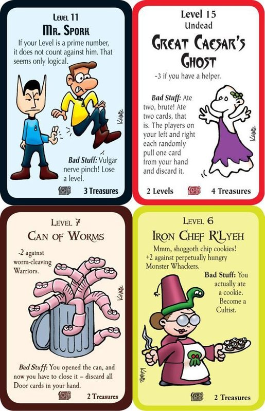 Munchkin Hidden Treasures cards